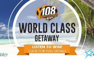Y108 The World Class Getaway, presented by Exterior Elements, Transat and tripcentral.ca.